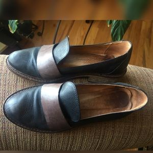 Free People Leather Two-Tone Loafers